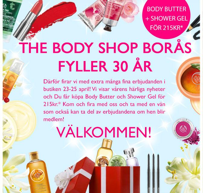The Body Shop Borås fyller 30 år