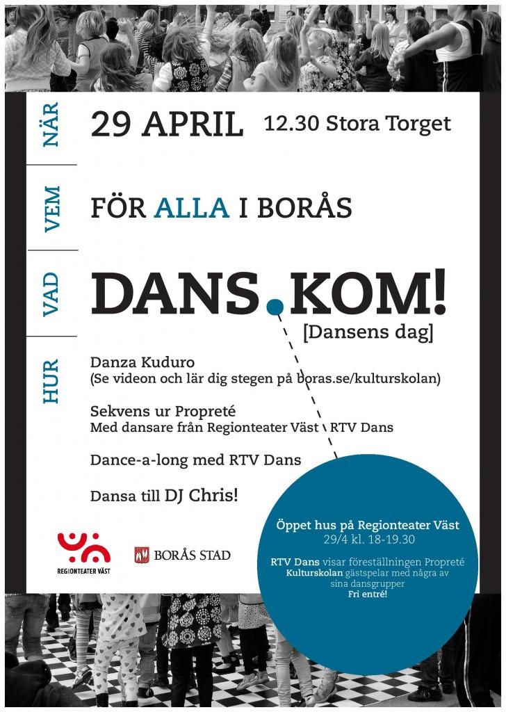 Dansens dag på Stora Torget imorgon 29:e april