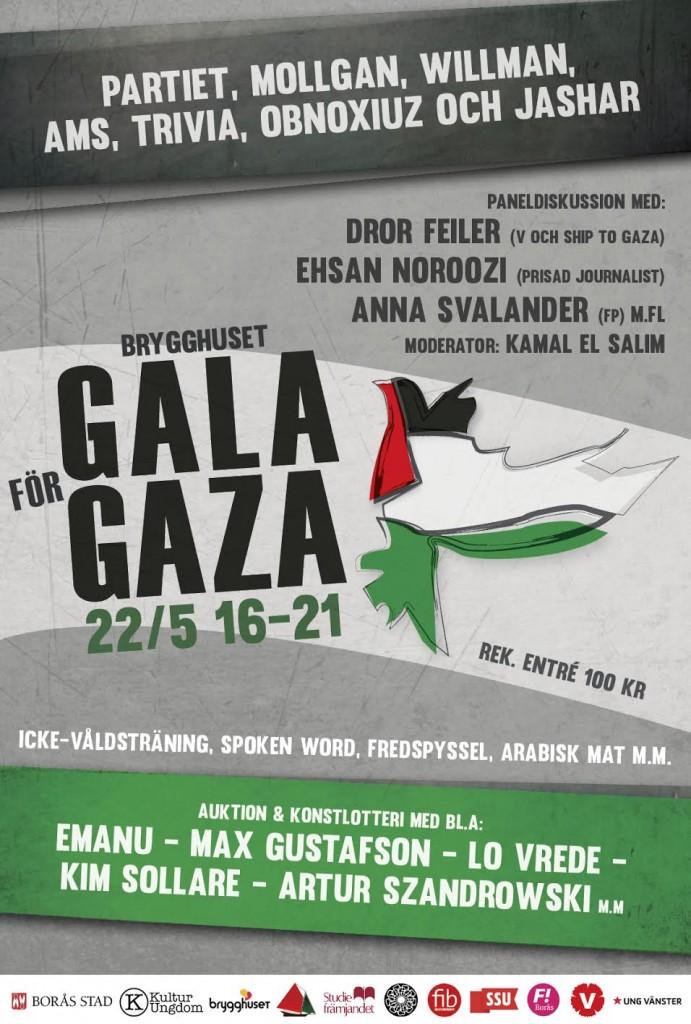 Gala för Gaza på Brygghuset 22 maj