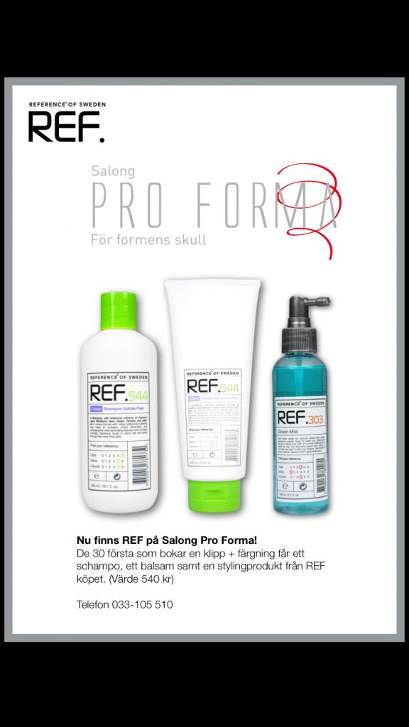 Nu finns REF hos salong Pro forma