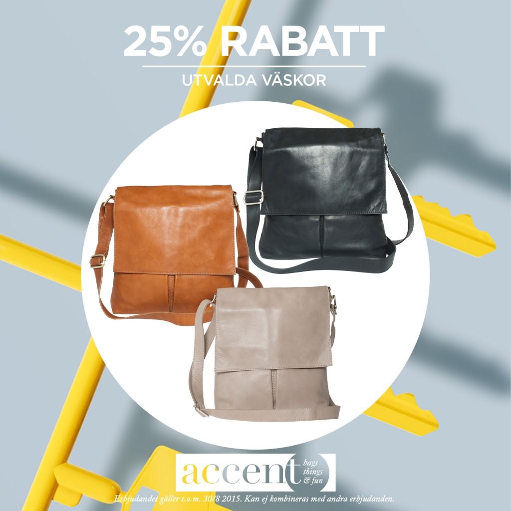 25% rabatt på utvalda väskor hos Accent