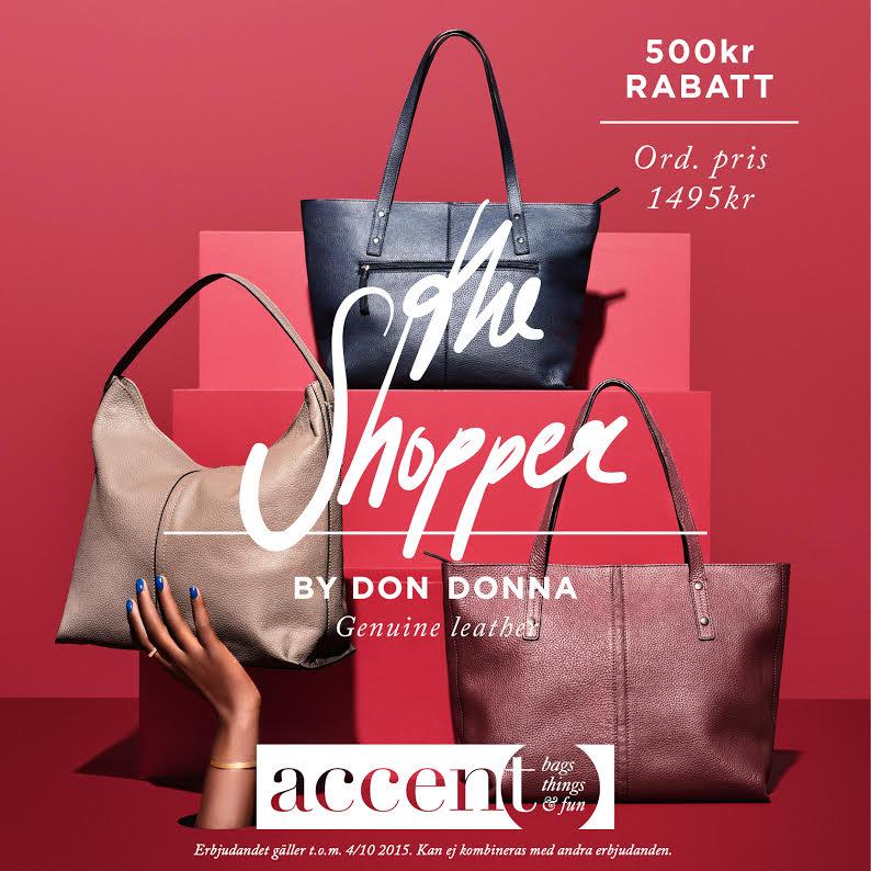 500 kronor i rabatt på utvald väska hos Accent