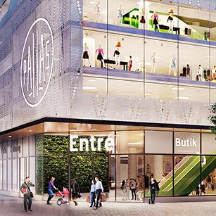 Fyra butiker klara för nya Pallashuset
