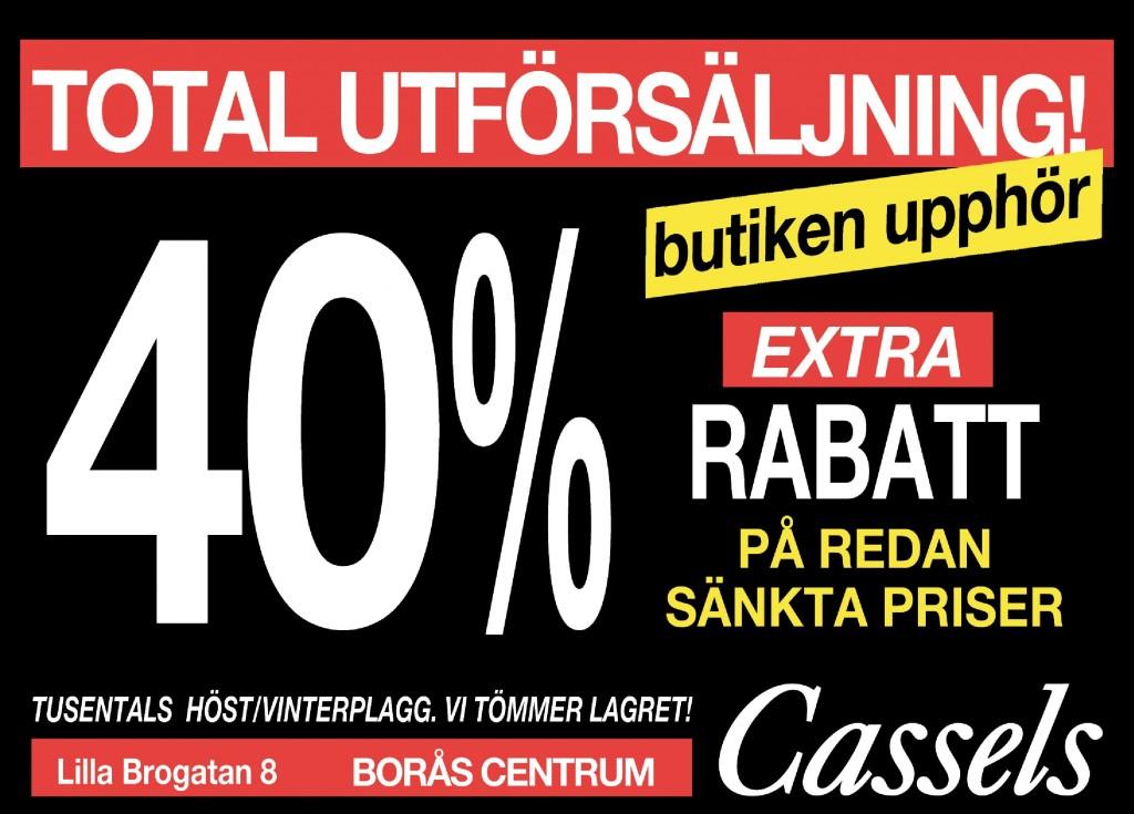 Total utförsäljning på Cassels