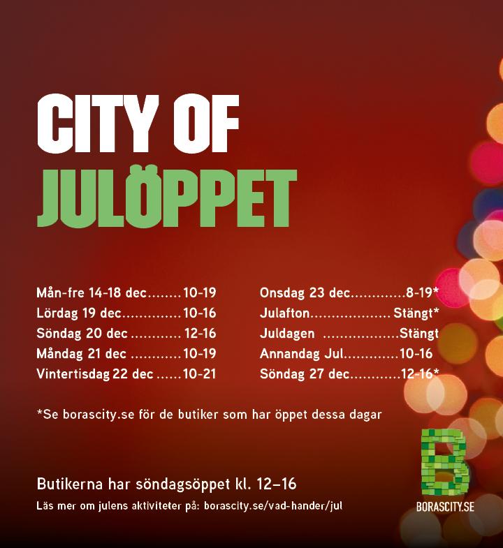 Julöppet i Borås City