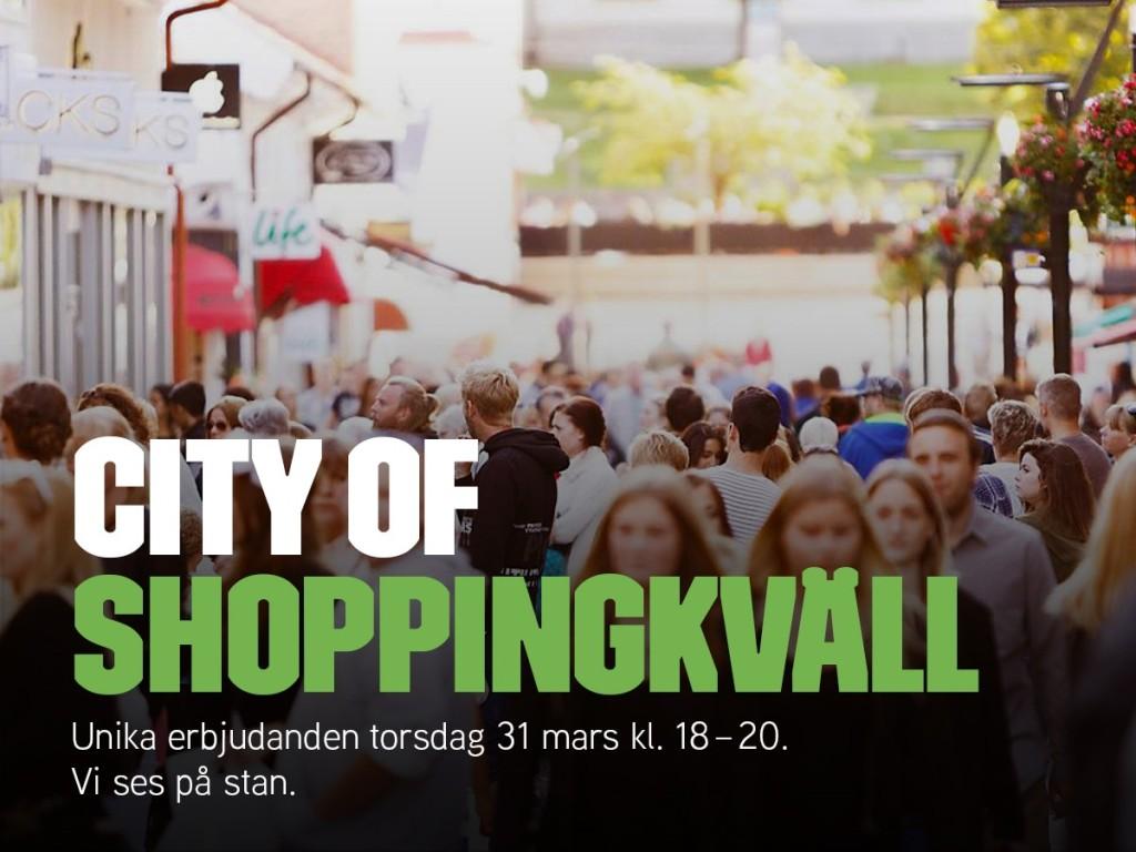 Shoppingkväll i Borås City 31 mars