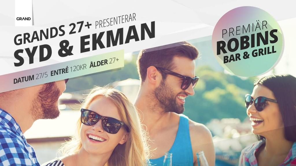 Syd och Ekman uppträder på Grands 27+