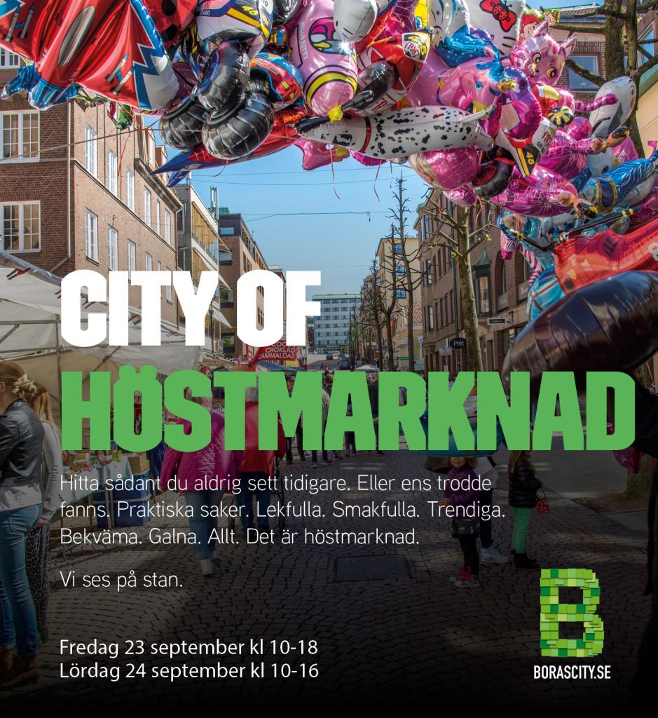 Höstmarknad i Borås City 23-24 september