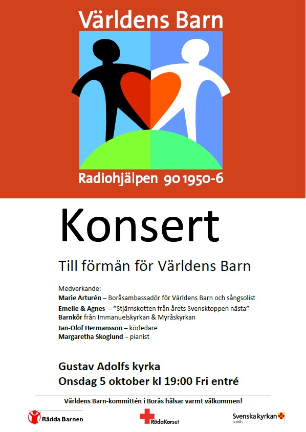 Konsert till förmån för Världens Barn 5 oktober