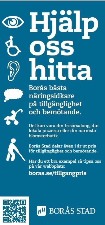 Hjälp oss hitta Borås bästa näringsidkare på tillgänglighet och bemötande!