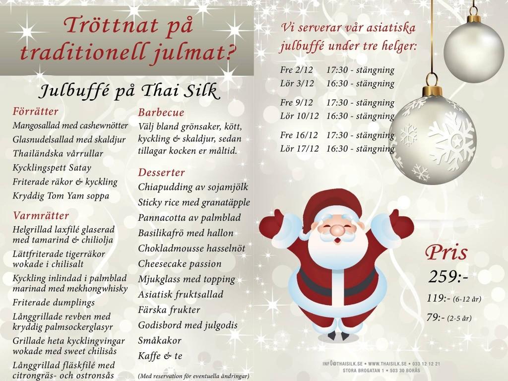 Thai Silk erbjuder en alternativ julbuffé