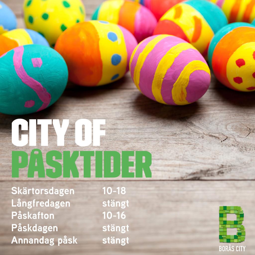 Påskparad i Borås City på påskafton