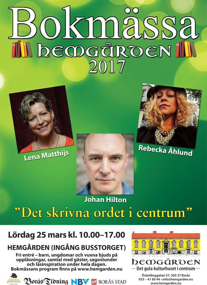 Bokmässa på Hemgården 25 mars