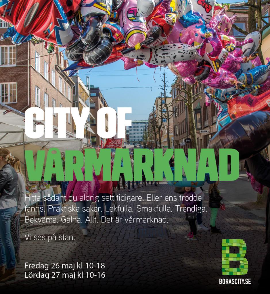Vårmarknad i Borås City 26-27 maj