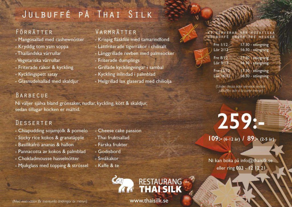 Julbuffé på Restaurang Thai Silk