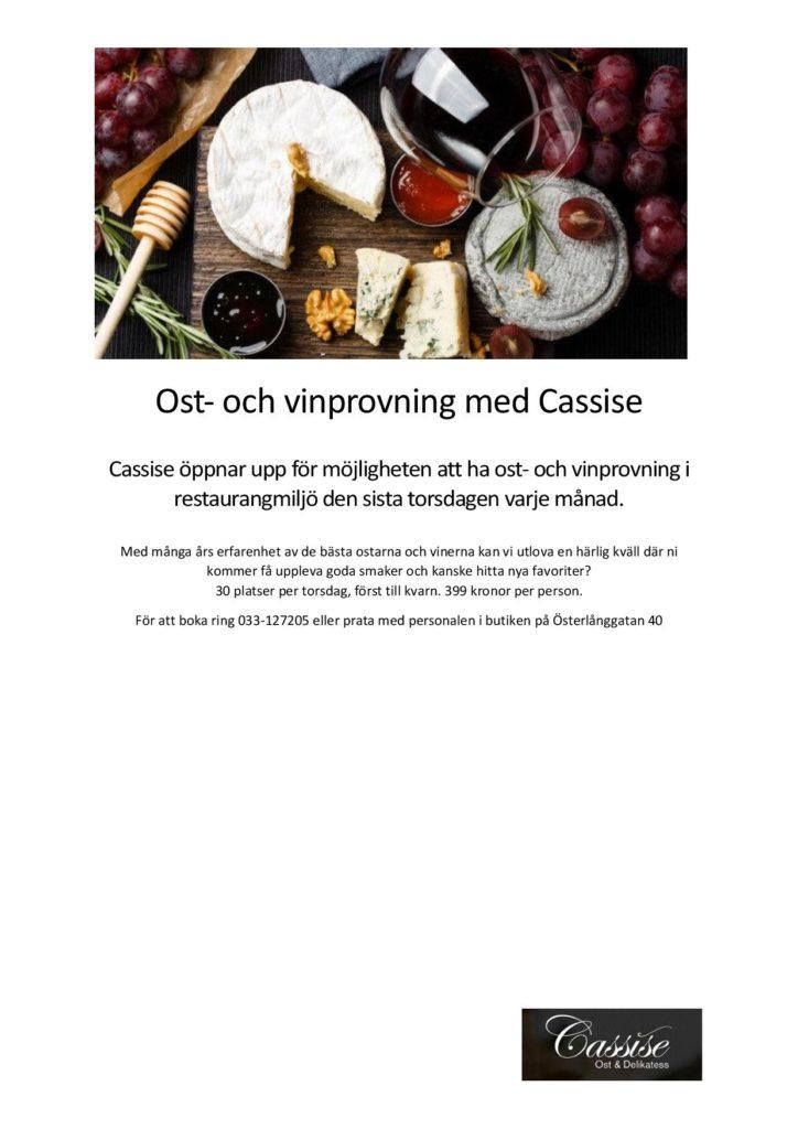 Ost- och vinprovning hos Cassise