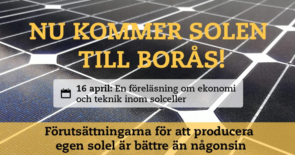 Föreläsning om ekonomi och teknik inom solceller