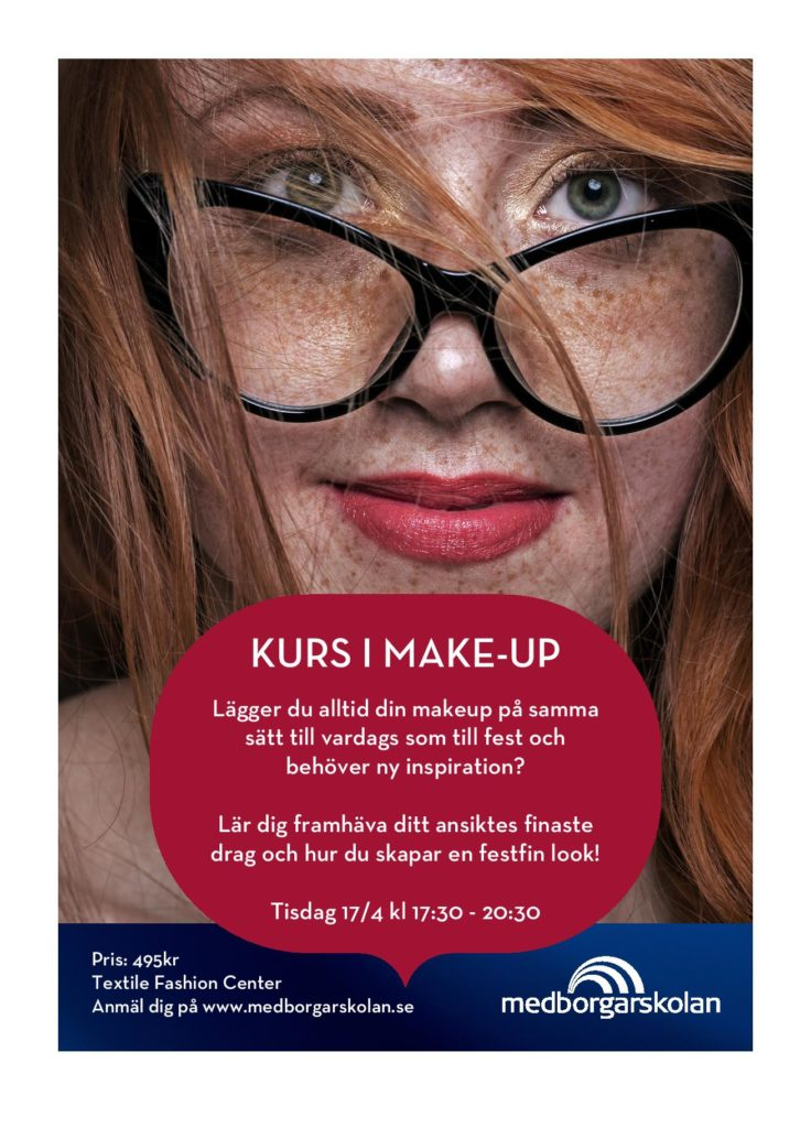 Kurs i make-up med Medborgarskolan Väst