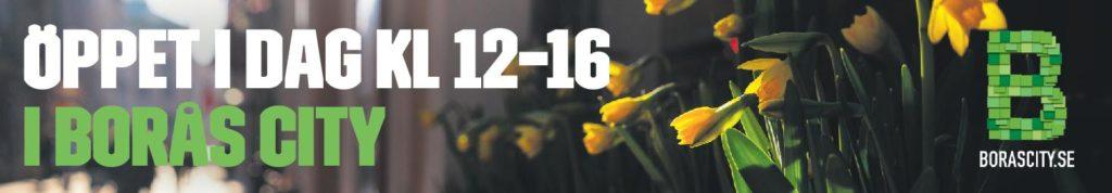 Öppet i Borås City idag kl. 12-16