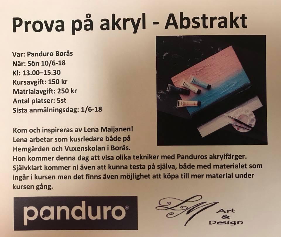 Prova på akryl – kurs tillsammans med Panduro!