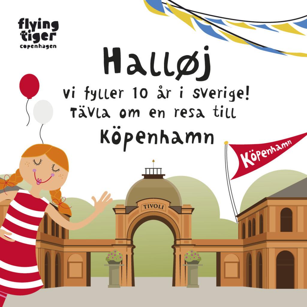 Vinn en resa till Köpenhamn med Flying Tiger!