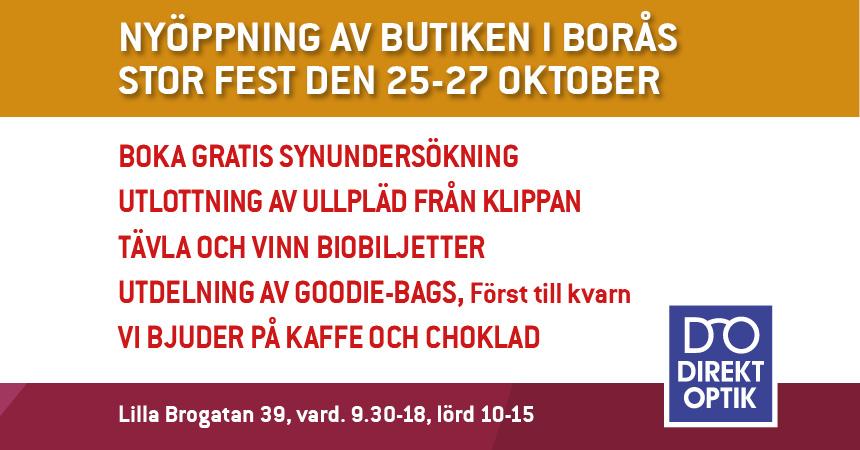 Nyöppning av DirektOptiks butik i Borås