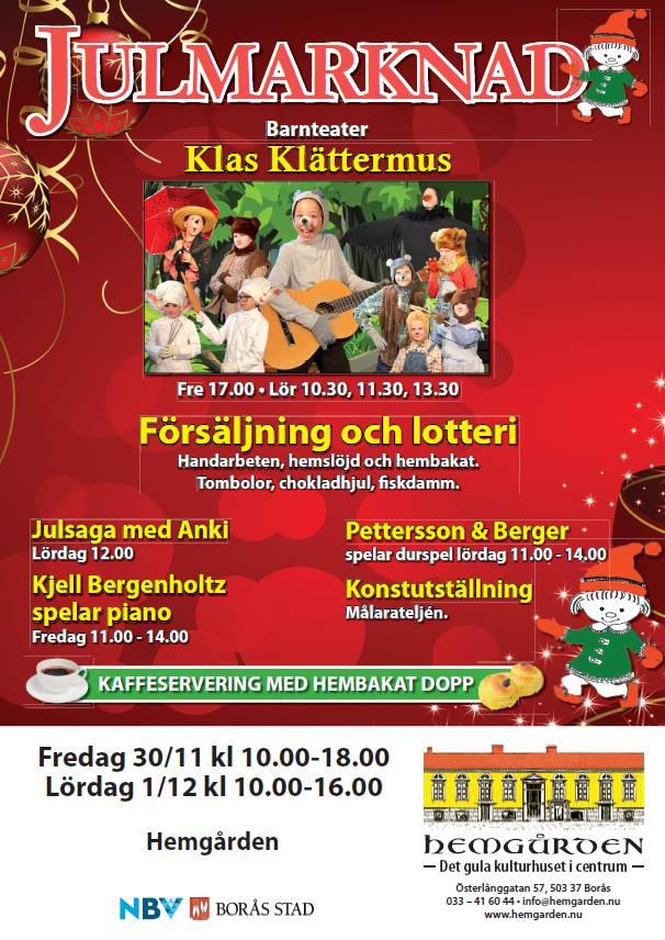 Julmarknad på Hemgården 30 nov-1 dec