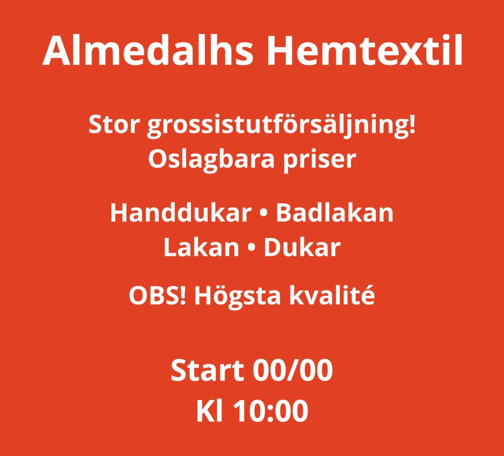 Almedahls hemtextil öppnar pop-up på Österlånggatan – 18 mars
